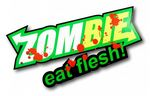 Blood Splatter Zombies Eat Flesh Funny Zombie Vinyl Car Sticker